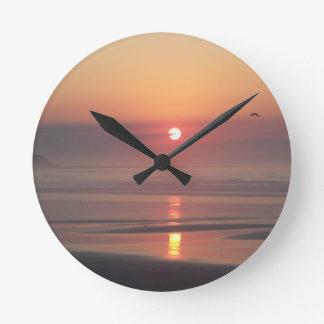 Hampton Beach Sunrise Hampton Beach New Hampshire Round Clock