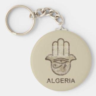 Hamsa Algeria Basic Round Button Key Ring