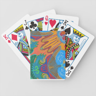 hamsa and doves by Sandrine Kespi Bicycle Playing Cards