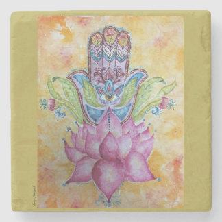 Hamsa Art Stone Coaster