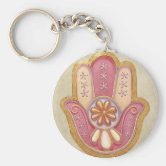 """Hamsa"" Basic Round Button Key Ring"