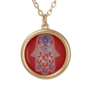 Hamsa good fortune necklace