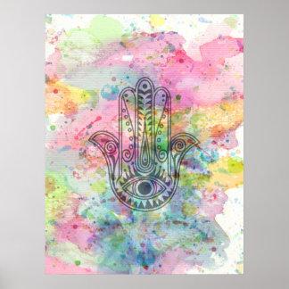 HAMSA Hand of Fatima symbol Poster