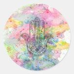 HAMSA Hand of Fatima symbol Round Sticker
