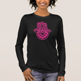 Hamsa - hand of the Fatima - protection symbol - Long Sleeve T-Shirt