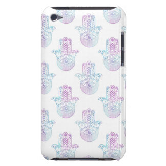 Hamsa Hand Pattern Purple and Blue Barely There iPod Covers