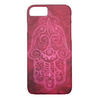 Hamsa in Magenta iPhone 7 Case
