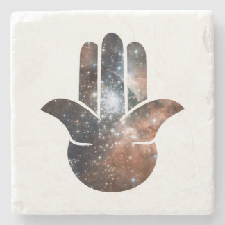 Hamsa Milky Way Stone Beverage Coaster