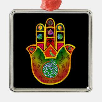 Hamsa Square Ornament