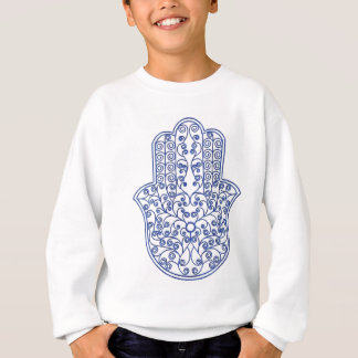 hamsa*tunis*morocco*henna*blue sweatshirt