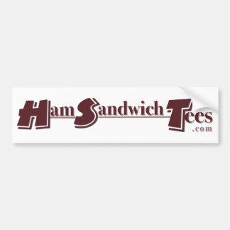 HamSandwichTees com Bumpersticker Bumper Sticker