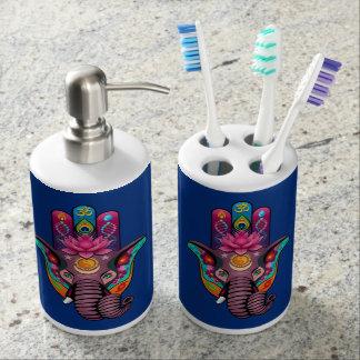 Hamsanesh Toothbrush Holder and Soap Dispenser Set