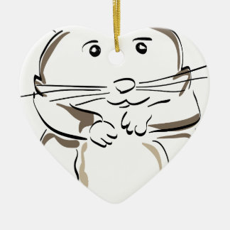 hamster-1530675 ceramic heart decoration