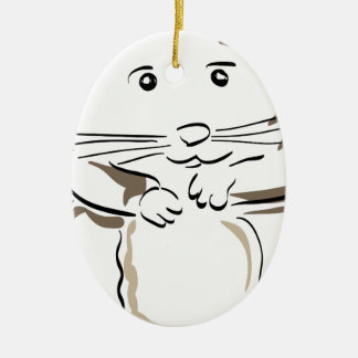 hamster-1530675 ceramic oval decoration