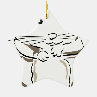 hamster-1530675 ceramic star decoration
