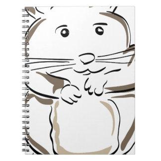 hamster-1530675 spiral notebook