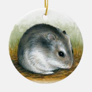 Hamster 25 round ceramic decoration