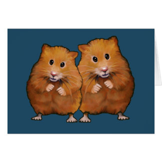 Hamster Couple: Anniversary: You Two Are So Cute Card