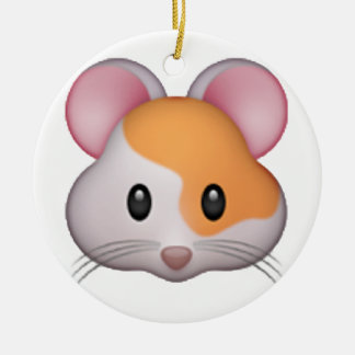 Hamster - Emoji Round Ceramic Decoration