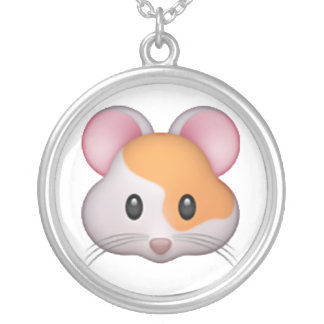 Hamster - Emoji Silver Plated Necklace