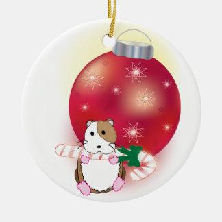 Hamster Holidays Ceramic Ornament