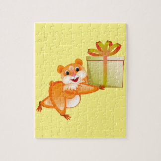 Hamster keeps the gift jigsaw puzzle