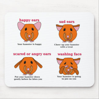 Hamster Language Mouse Pad