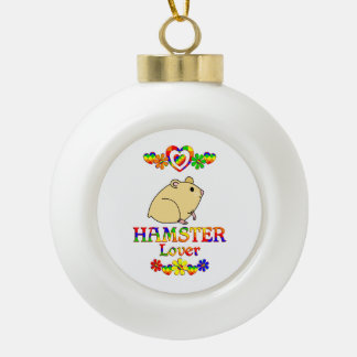 Hamster Lover Ceramic Ball Decoration