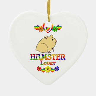 Hamster Lover Ceramic Heart Decoration
