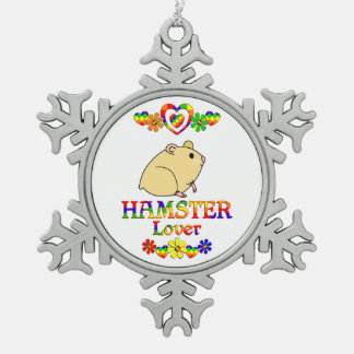Hamster Lover Pewter Snowflake Decoration