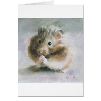 Hamster Oil Painting by Kate Marr Card