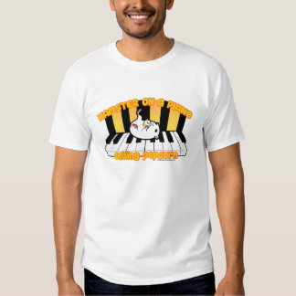 Hamster on a piano eating popcorn tshirts