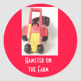 Hamster on the Farm Classic Round Sticker