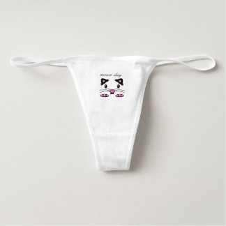 Hamster or Mouse face pink thong underwear