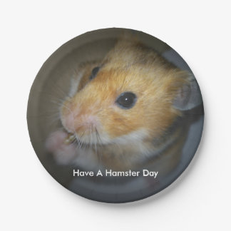 Hamster Paper Plates