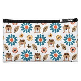 Hamster & Sunflower Seamless Pattern Cosmetic Bag
