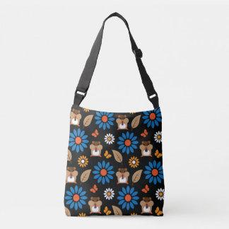 Hamster & Sunflower Seamless Pattern Crossbody Bag