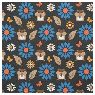 Hamster & Sunflower Seamless Pattern Fabric