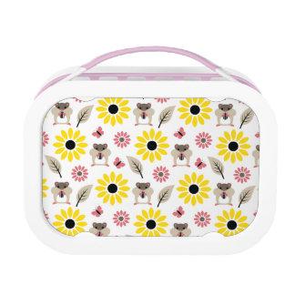 Hamster & Sunflower Seamless Pattern Lunch Box