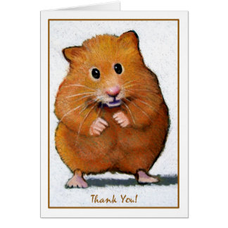 HAMSTER THANK YOU CARD