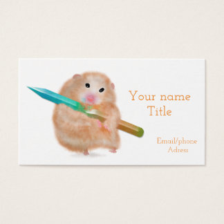 Hamster with pencil bussiness card
