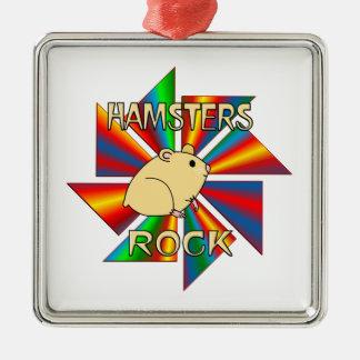 Hamsters Rock Metal Ornament