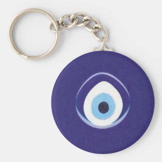 Hamza to the Evil Eye Basic Round Button Key Ring