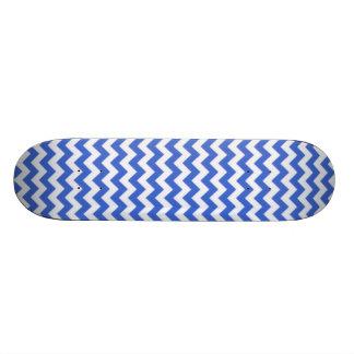 Han Blue Chevron Stripes Skate Boards