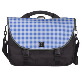 Han Blue Gingham; Checkered Laptop Computer Bag
