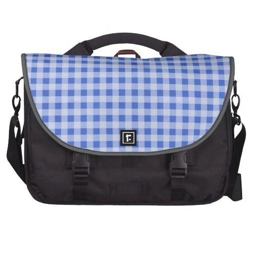 Han Blue Gingham; Checkered Laptop Computer Bag