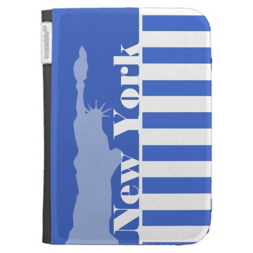Han Blue Horizontal Stripes; New York Kindle Keyboard Cases
