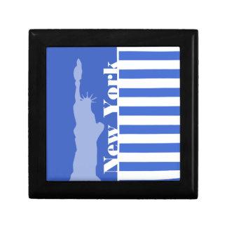 Han Blue Horizontal Stripes New York Keepsake Boxes