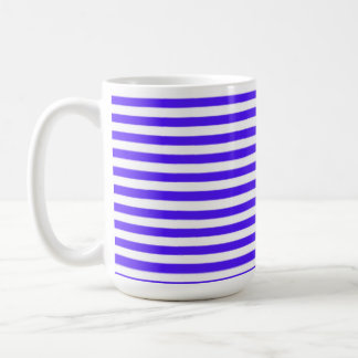 Han Purple Horizontal Stripes; Striped Mugs