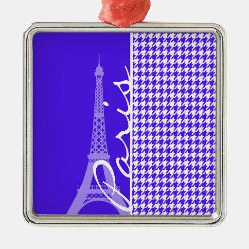 Han Purple Houndstooth; Paris Christmas Ornament